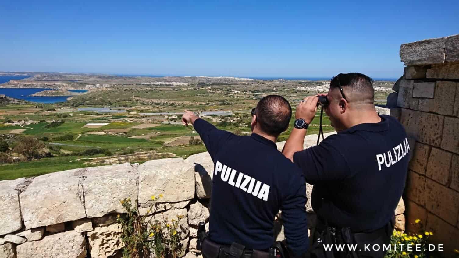 Policja na Malcie, fot: CABS